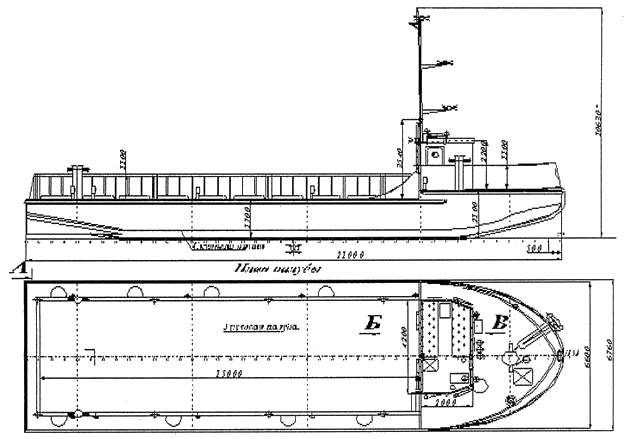 Морской несамоходный плашкоут МНП-90