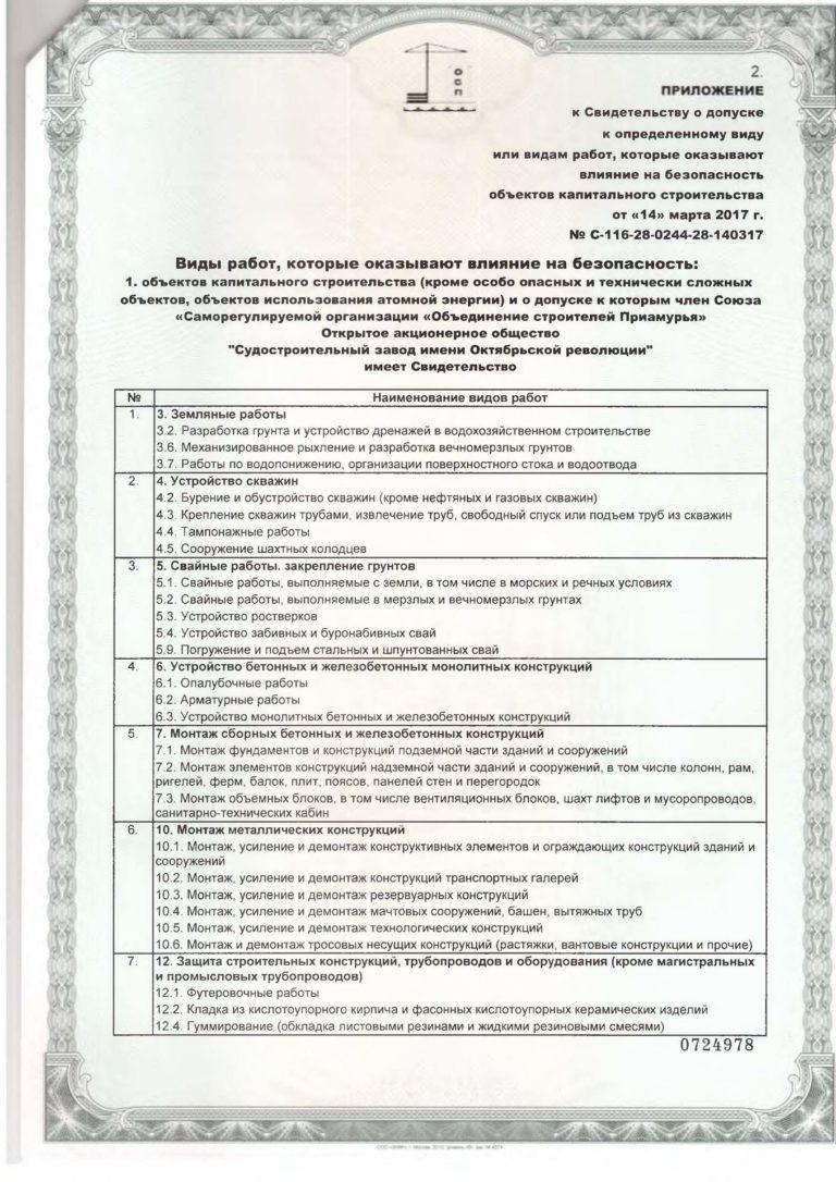 Свидетельство Союз СРО Обьединение строителей Приамурья_2